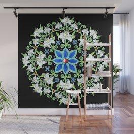Folkloric Flower Crown Wall Mural