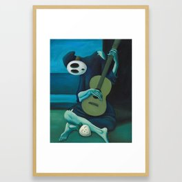 The Shy Guitarist Framed Art Print