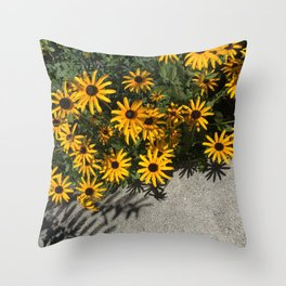Susans and Cement Throw Pillow