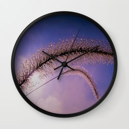 drops on the grass Wall Clock