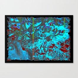 Cyan Essence Canvas Print
