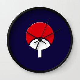 SASUKE UCHIHA CLAN LOGO/NARUTO Wall Clock