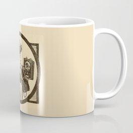 Lady at phone. Coffee Mug