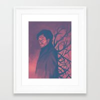 will graham Framed Art Prints featuring Will Graham by Beth B