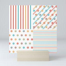 Simple saturated pattern Mini Art Print