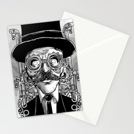 Steampunk Man Stationery Cards