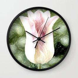 Elegant Lady Flower Wall Clock