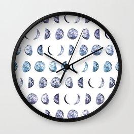 Moon Shadows Wall Clock