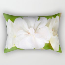 White Flowers | Flower | Floral | Nadia Bonello Rectangular Pillow