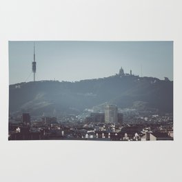 Barcelona from Montjuic Rug