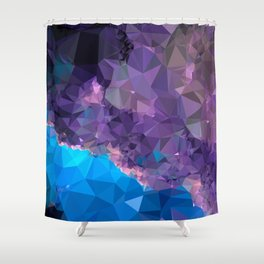 Geometric Galaxy Low Poly 1 Shower Curtain