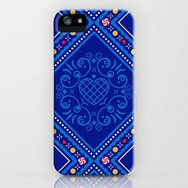 Sweet Winter Blues iPhone Case