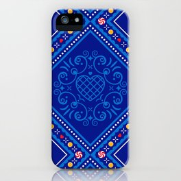 Sweet Winter Blues iPhone Case