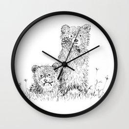 Bear Cubs Wall Clock