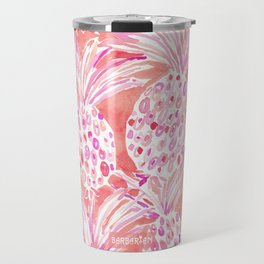 FLESHED OUT Tropical Pink Pineapples Travel Mug