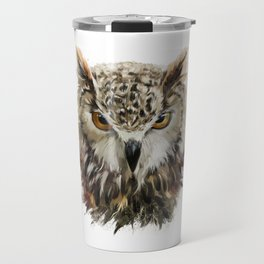 Owl Face Grunge Travel Mug