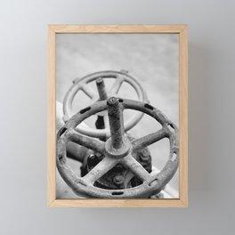 Pipeline valves Framed Mini Art Print