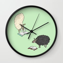Hungry Sheep Wall Clock