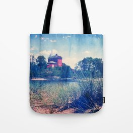 Vintage Great Lakes Lighthouse Tote Bag
