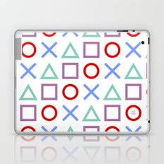Gamer Pattern Color on White Laptop & iPad Skin