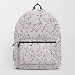 Sanddollar Pattern in Purple Backpack