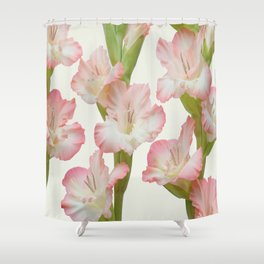 Gladioli Flowers Shower Curtain