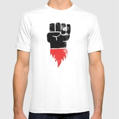 Resist Fist MEDIUM Mens Fitted Tee White