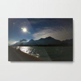 Alps at the Inn 2 Metal Print
