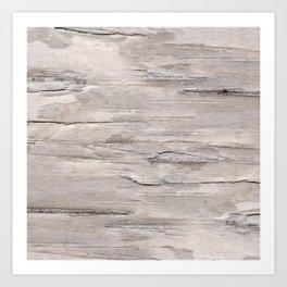 Faux White Birch Wood Effect Digital Design Art Print