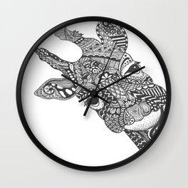 Zentangle Giraffe Wall Clock
