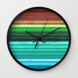 Colorful Lines Wall Clock