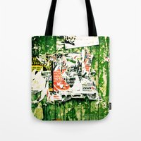 posters Tote Bags featuring posters 2 by Renee Ansell