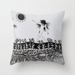 Crows' Dance Throw Pillow