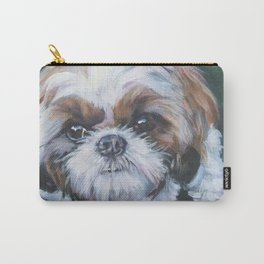 SHIH TZU dog art portrait from an original painting by L.A.Shepard Carry-All Pouch