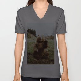 Hi Bear Unisex V-Ausschnitt