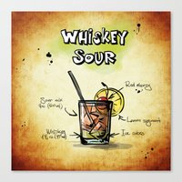 whiskey Canvas Prints featuring Whiskey Sour by jamfoto