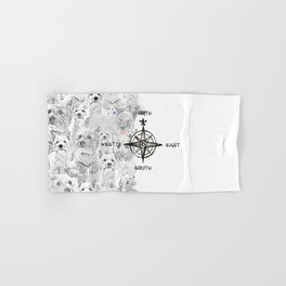 North South East & Westie Dog Hand & Bath Towel