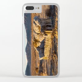 Sitting comfortably Clear iPhone Case
