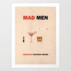 Mad Men Minimalist Poster Art Print