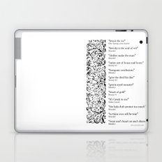 Words Words Words - William Shakespeare Quotations print Laptop & iPad Skin