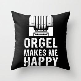 Organ player musician church music Throw Pillow