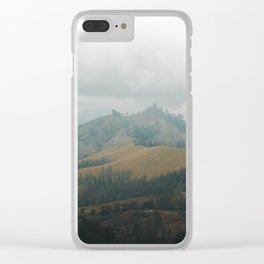 Over the Hill and Far Away Clear iPhone Case
