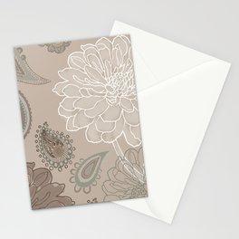 Cocoa Paisley V Stationery Cards