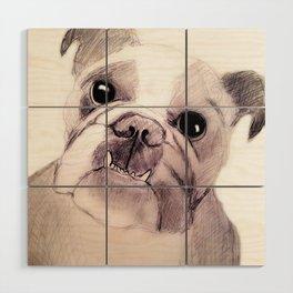 Bully Bull Dog Wood Wall Art