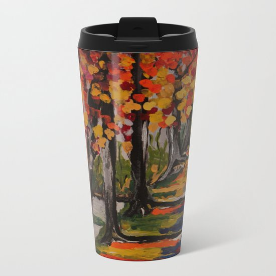 Autumn Tranquility Metal Travel Mug