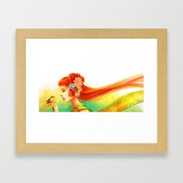 My little robin Framed Art Print