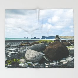 Coastal Stacks Throw Blanket