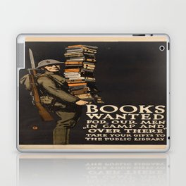 Vintage poster - Books Wanted Laptop & iPad Skin