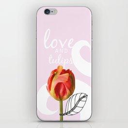 Love and Tulips iPhone Skin