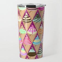 Colourful Ice Creams Diamond Pattern Travel Mug
